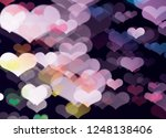 blur and bokeh  vibrant colors. ... | Shutterstock . vector #1248138406