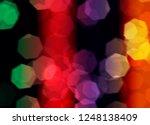 blur and bokeh  vibrant colors. ... | Shutterstock . vector #1248138409