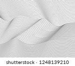 wavy abstract dark lines.... | Shutterstock .eps vector #1248139210