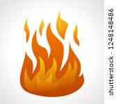 fire flame isolated on white... | Shutterstock .eps vector #1248148486