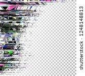 glitch background. grunge... | Shutterstock .eps vector #1248148813