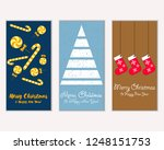 vector illustration of winter... | Shutterstock .eps vector #1248151753