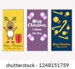 vector illustration of winter... | Shutterstock .eps vector #1248151759