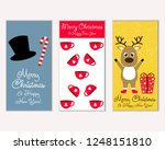 vector illustration of winter... | Shutterstock .eps vector #1248151810