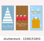 vector illustration of winter... | Shutterstock .eps vector #1248151843