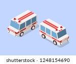 ambulance car isometric avto...   Shutterstock .eps vector #1248154690