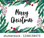watercolor colorful christmas...   Shutterstock . vector #1248158473