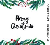 watercolor colorful christmas...   Shutterstock . vector #1248158500