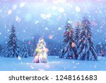 holiday landscape with... | Shutterstock . vector #1248161683