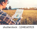 smart farming agricultural... | Shutterstock . vector #1248165523