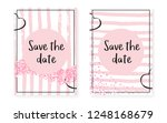 bridal shower set with dots and ... | Shutterstock .eps vector #1248168679