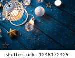 christmas lantern with... | Shutterstock . vector #1248172429