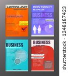 flyer design business and... | Shutterstock .eps vector #1248187423