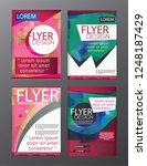 polygon brochure flyer ... | Shutterstock .eps vector #1248187429