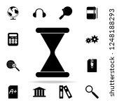 hourglass icon. university life ...