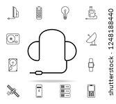 gaming headphones outline icon. ...   Shutterstock .eps vector #1248188440