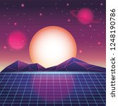digital mountain landscape | Shutterstock .eps vector #1248190786
