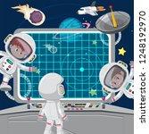 children astronuats on a... | Shutterstock .eps vector #1248192970