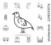 Chukar Partridge Icon. Pakista...