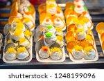 thai crispy pancake. thai... | Shutterstock . vector #1248199096