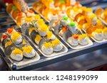 thai crispy pancake. thai... | Shutterstock . vector #1248199099
