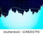stock exchange market graph on... | Shutterstock . vector #1248201793