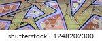fragment of graffiti drawings....   Shutterstock . vector #1248202300