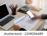 business women working in... | Shutterstock . vector #1248206689