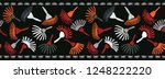 boho vector stripes border... | Shutterstock .eps vector #1248222220