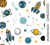 childish seamless pattern. hand ...   Shutterstock .eps vector #1248222310