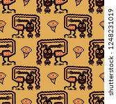seamless geometrical pattern... | Shutterstock .eps vector #1248231019