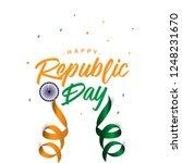 happy india republic day vector ... | Shutterstock .eps vector #1248231670