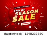end of season sale banner. sale ... | Shutterstock .eps vector #1248233980