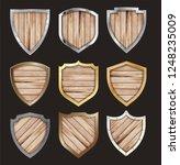 vector wooden and metal shield... | Shutterstock .eps vector #1248235009