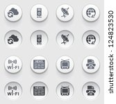 communication icons on white... | Shutterstock .eps vector #124823530