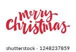 """merry christmas"" text hand... | Shutterstock .eps vector #1248237859"