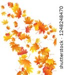 maple leaves vector background  ... | Shutterstock .eps vector #1248248470