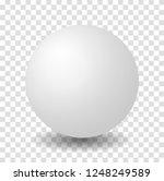 sphere white 3d vector ball | Shutterstock .eps vector #1248249589