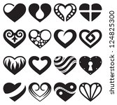 heart icons  signs and symbols... | Shutterstock .eps vector #124825300