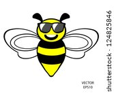 bee icon bee drawing bee... | Shutterstock .eps vector #124825846