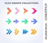 flat arrow collection | Shutterstock .eps vector #1248259519