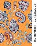indian rug tribal ornament... | Shutterstock .eps vector #1248262723