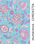indian rug tribal ornament... | Shutterstock .eps vector #1248262726