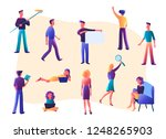 vector illustration. flat... | Shutterstock .eps vector #1248265903