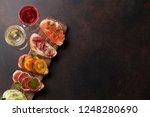 brushetta or traditional... | Shutterstock . vector #1248280690
