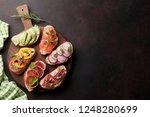 brushetta or traditional...   Shutterstock . vector #1248280699