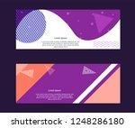 memphis design fashion template ... | Shutterstock .eps vector #1248286180