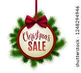 christmas sale advertisement ... | Shutterstock .eps vector #1248294946