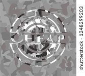cheap on grey camouflaged... | Shutterstock .eps vector #1248299203