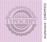 typescript pink emblem | Shutterstock .eps vector #1248299323